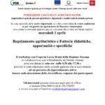 Regolamento agrituristico e Fattorie didattiche, opportunità e specifiche