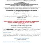 SMART ENERGY SAVING – Risparmio Energetico, Valutazione di Impatto ed Ottimizzazione dei Processi Produttivi